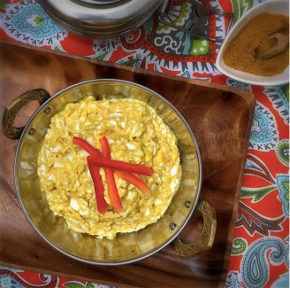 Egg Salad featuring our Sweet Holi Curry