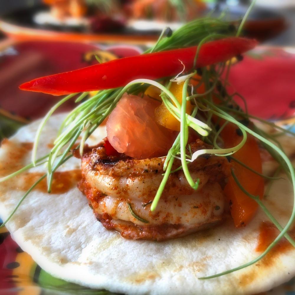 Fig & Knife Picasso's Palate Shrimp Tacos 1